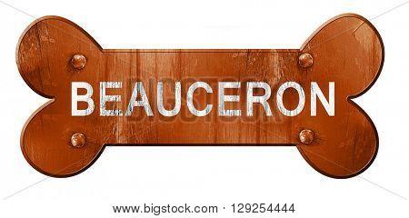 Beauceron, 3D rendering, rough brown dog bone