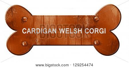 Cardigan welsh corgi, 3D rendering, rough brown dog bone