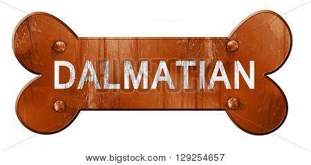 Dalmatian, 3D rendering, rough brown dog bone