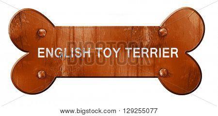 English toy terrier, 3D rendering, rough brown dog bone