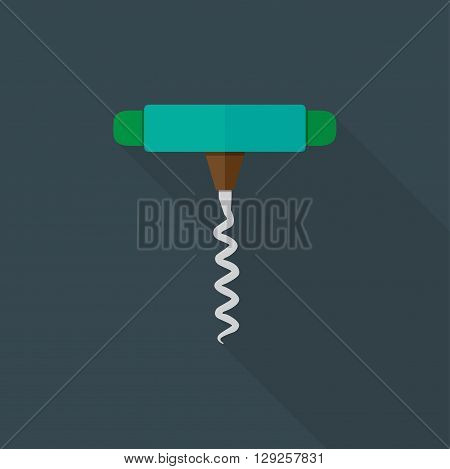 Corkscrew icon illustration isolated vector sign symbol
