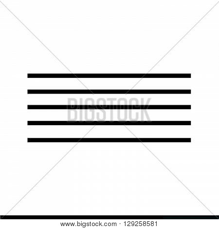 an images of Musical note icon Illustration design