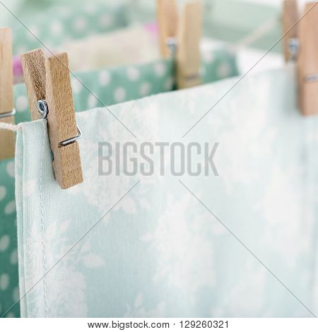Clothesline background with a domestic housework concept