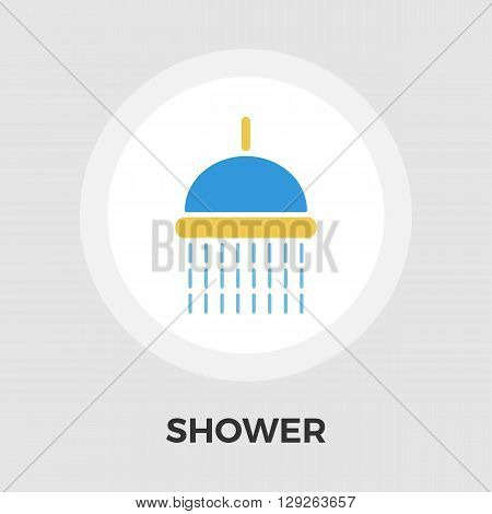 Shower icon vector. Flat icon isolated on the white background. Editable EPS file. Vector illustration.