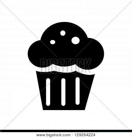 an images of Cupcake Icon Illustration design