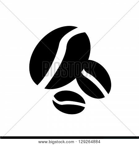 an images of Coffee Grains Icon Illustration design