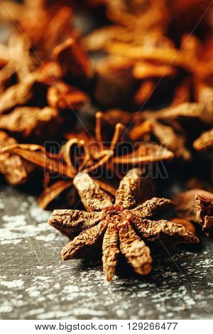 Food Background With Heap Of Star Anise