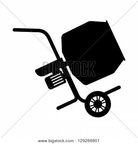 Concrete mixer ( shade picture ) on white background