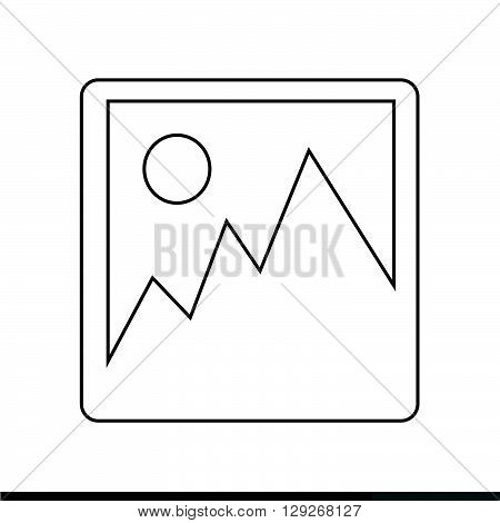 an images of photograph icon Illustration design