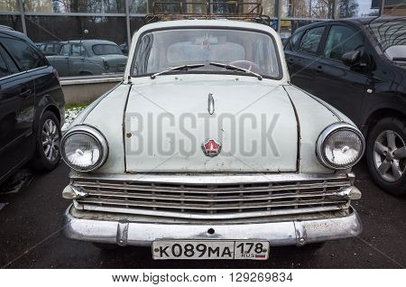 Gray Old Timer Moskvitch-403 Car