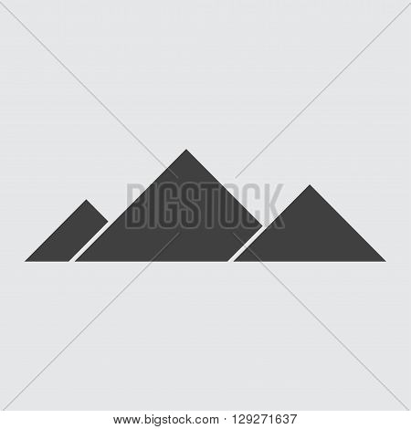 Egyptian pyramid icon illustration isolated vector sign symbol
