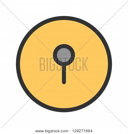 Hole, key, lock icon vector image.Can also be used for security. Suitable for mobile apps, web apps and print media.