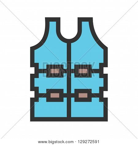 Bulletproof, police, vest icon vector image.Can also be used for security. Suitable for mobile apps, web apps and print media.