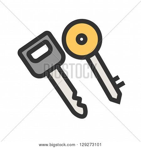 Keys, car, security icon vector image.Can also be used for security. Suitable for mobile apps, web apps and print media.