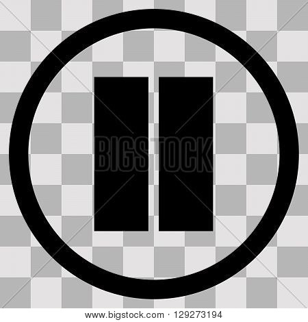 Vector Flat black singl icon stop on transparent background