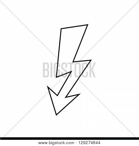 an images of Lightning icon illustration design