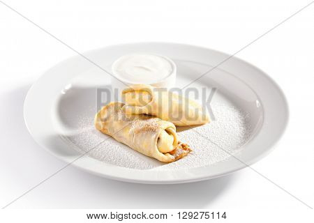 Dessert - Pancakes with Sour Cream