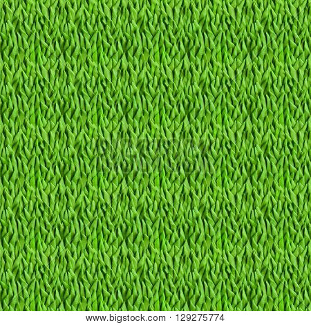 Green grass. Seamless pattern for your design. Plasticine modeling