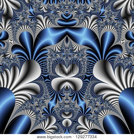 Fabulous seamless blue and grey background. Magical Satin. You can use it for invitations, notebook covers, phone cases, postcards, cards and so on.