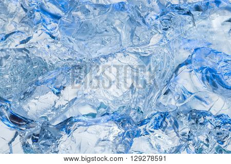 Fresh cool ice cube background for summer or winter