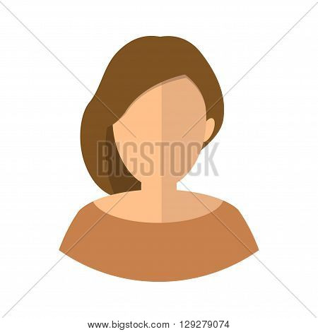 Avatar girl icon. Business lady. Hairstyle. simple.