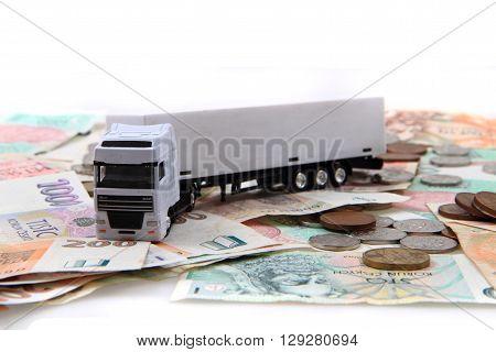 White Truck And Czech Money
