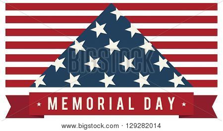 America USA Memorial Day Patriotic Vector. Symbolic US Flag.