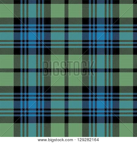 Black Watch Scottish tartan tileable vector wallpaper that repeats left right up and down