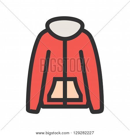 Jacket, clothes, winter icon vector image.Can also be used for winter. Suitable for mobile apps, web apps and print media.