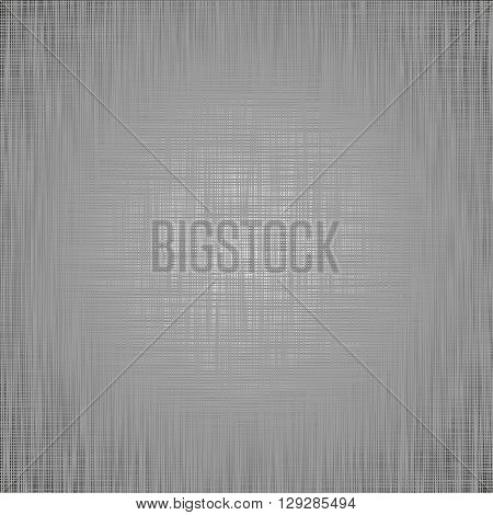 Grey light canvas texture vector background. Imitation of an interlacing of fabric