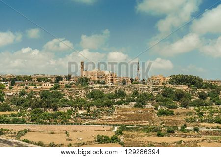 country scenery of Mdina in Malta