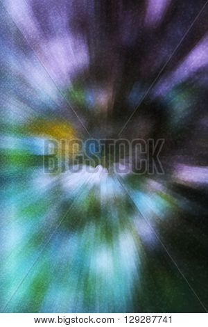 Abstract fancy spectrum zoom in colourful background