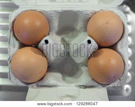 Eggs In Egg Box
