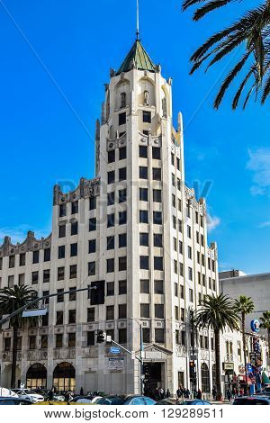 USA, California, Los Angeles, Hollywood, 29 Janua 2015 . Hollywood First National Building, Hollywood, Los Angeles, California, USA