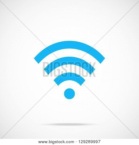 Vector wifi icon. Flat wi-fi icon. Flat design vector illustration for web banner, web and mobile, infographics. Vector icon isolated on gradient background
