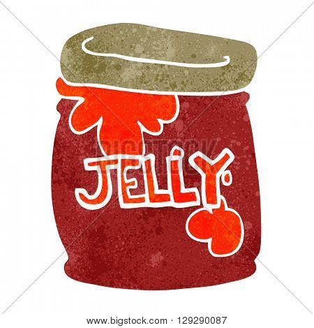 freehand retro cartoon jar of jelly