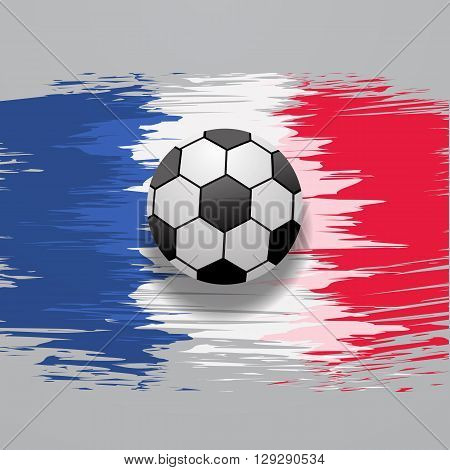 France football championship with ball and france flag colors eps 10 vector illustration