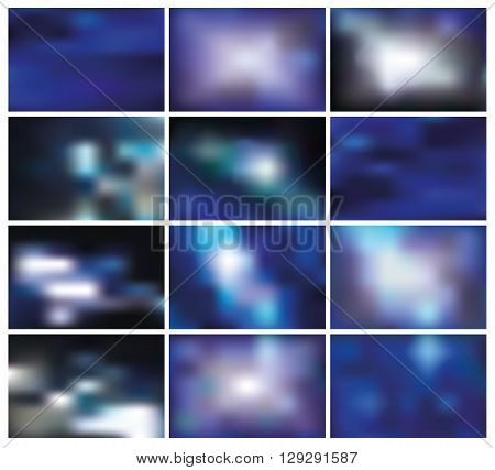 Abstract blurred effect backgrounds.Vector Effect smooth blurred light, energy space and sky.Elements for website, print and presentation.Watercolor blur.Blue, cool colors.Space, sky.