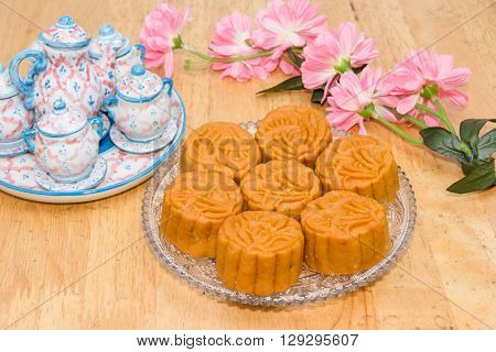 mooncake or food for Chinese mid-autumn festival