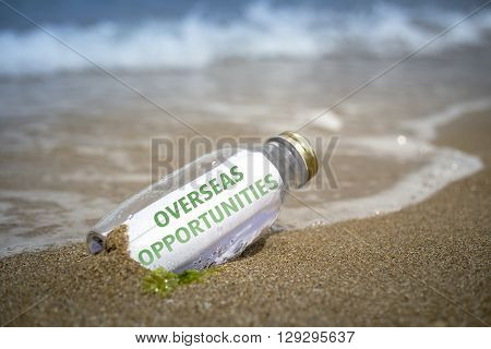 Overseas Opportunities List In A Bottle