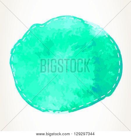 Dashed Watercolor Circle