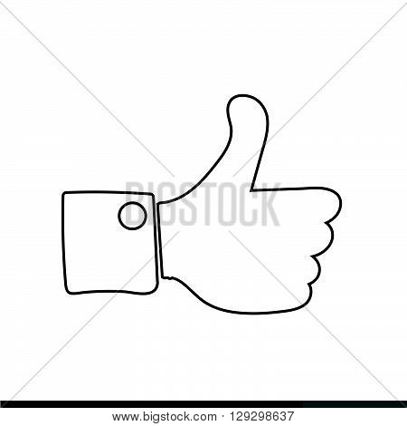Thumbs up icon Like icon dislike icon illustration design