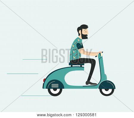 Man_driving_motobike_grey_colour