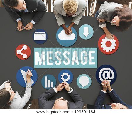 Message Blogging Layout Database Information Concept