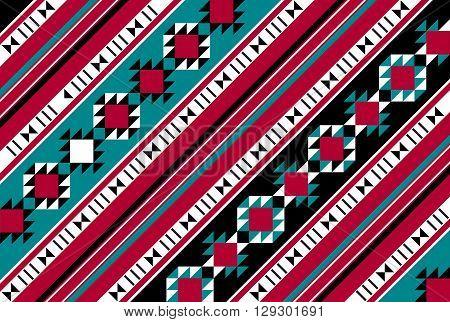 Diagonal Pattern Rug From The Arabian Gulf Region