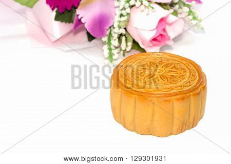 Chinese mid-autumn festival isolated on white background