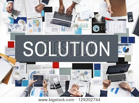 Solution Solving Problem Improvement Decision Concept