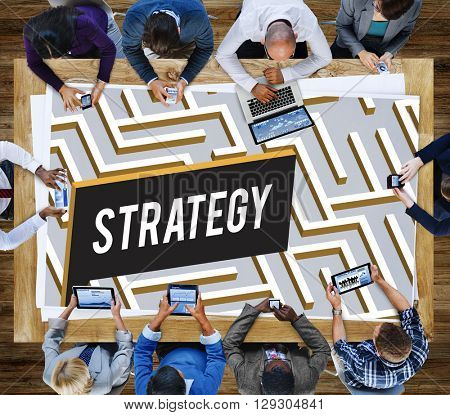 Strategy Maze Confusion Intricacy Concept