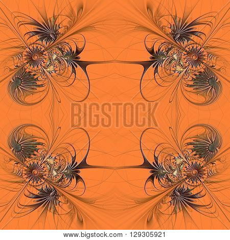 Flower seamless background with embossed effect. Artwork for creative design art and entertainment.