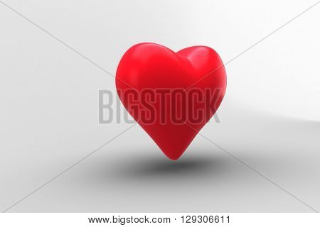 Digitally generated Red heart
